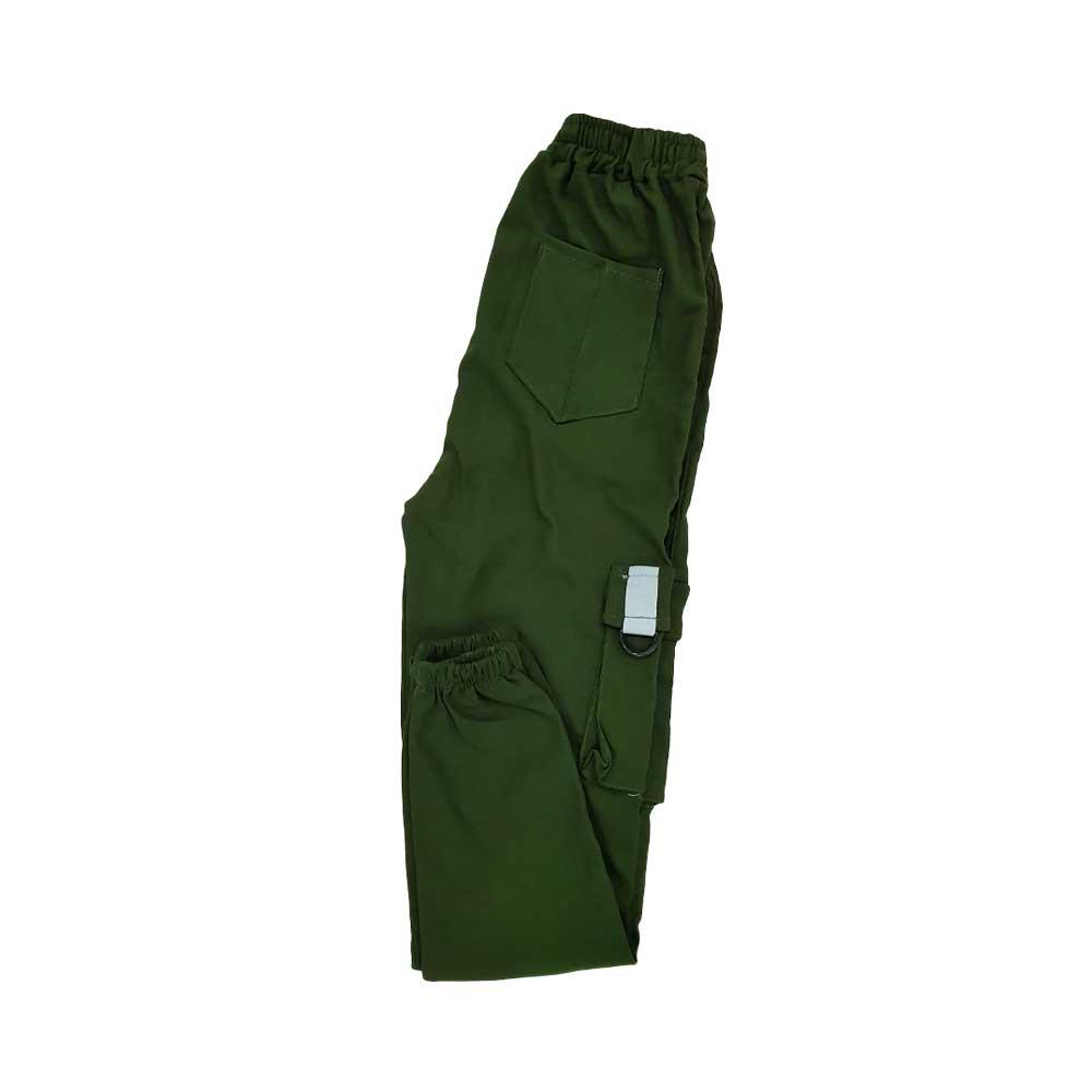 شلوار اسلش شش جیب سبز پررنگ پشت