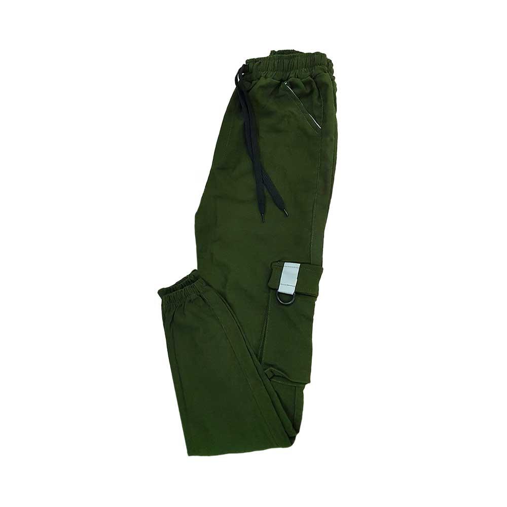 شلوار اسلش شش جیب سبز پررنگ جلو بسته