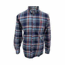 پیراهن کتان چهارخونه