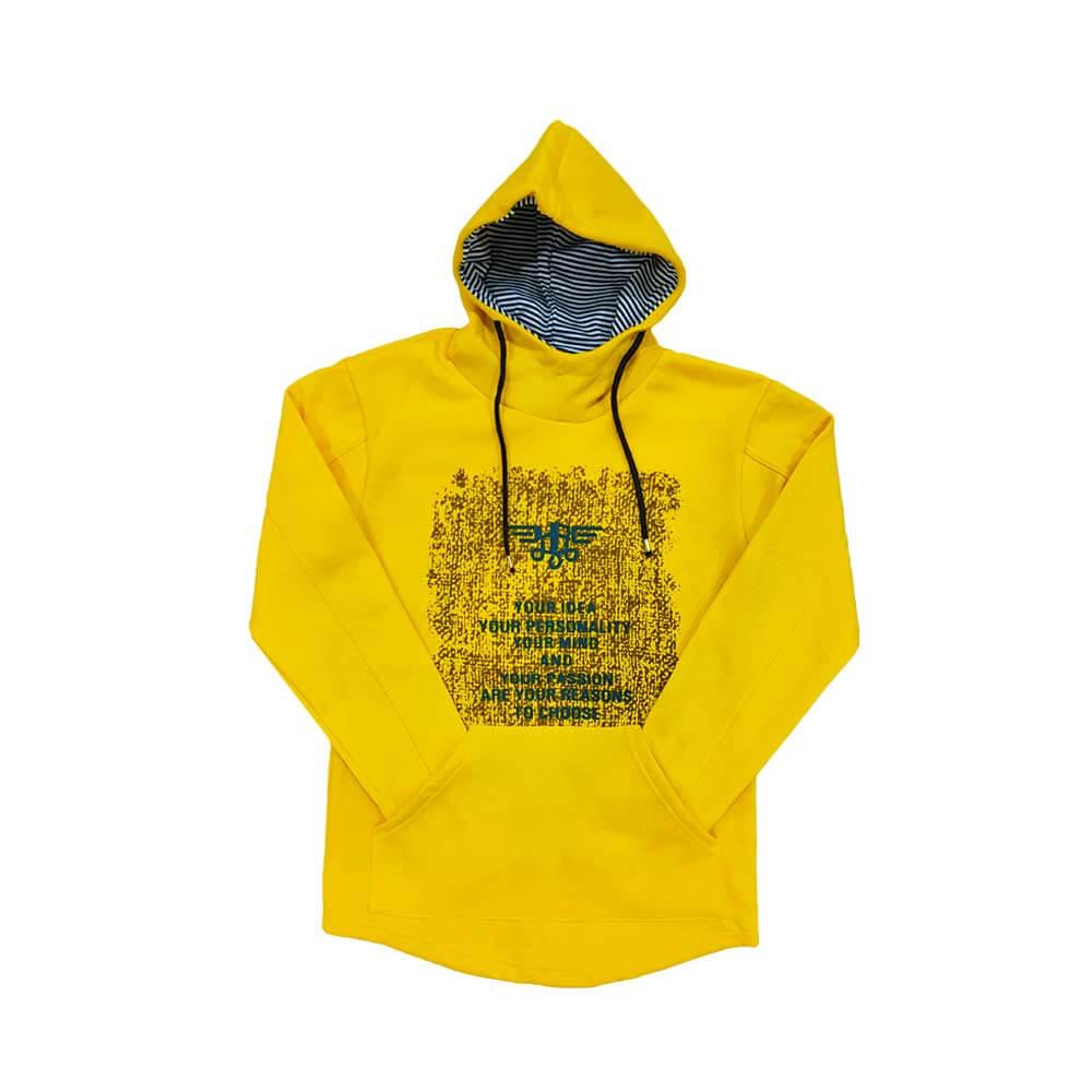 هودی طرح دار زرد