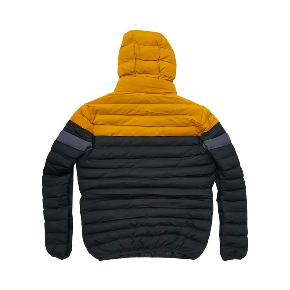 کاپشن بادی سبک زمستانه زرد مشکی طوسی پشت