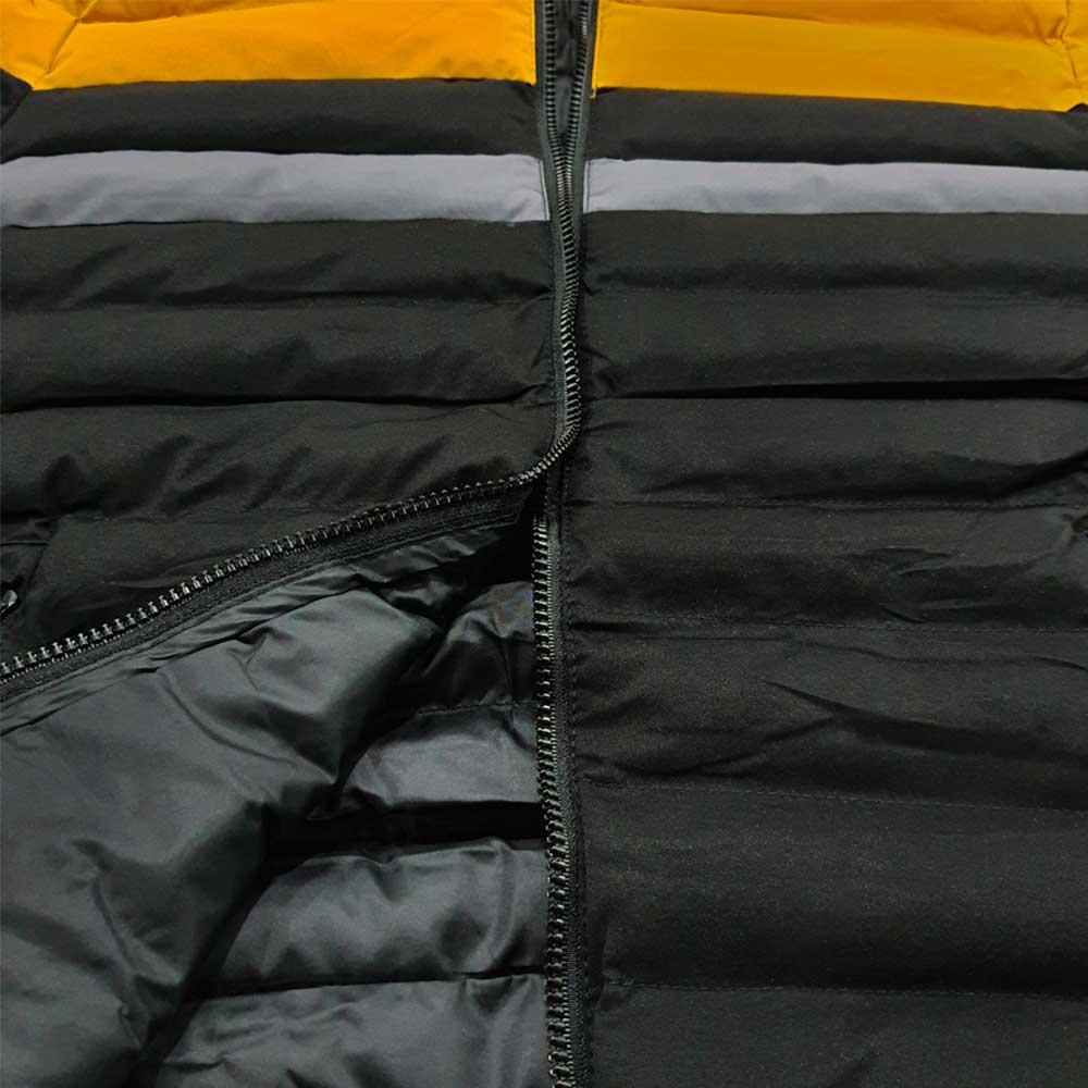 کاپشن بادی سبک زمستانه زرد مشکی طوسی