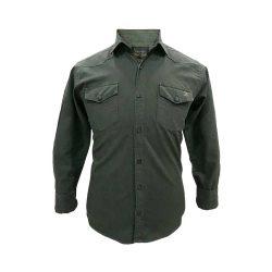 پیراهن کتان دو جیب سبز یشمی