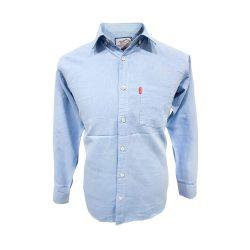 پیراهن نخی سایز بزرگ تک جیب