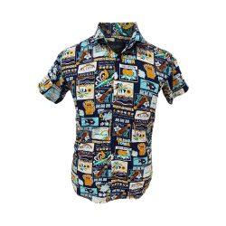 پیراهن هاوایی شاد طرح دار