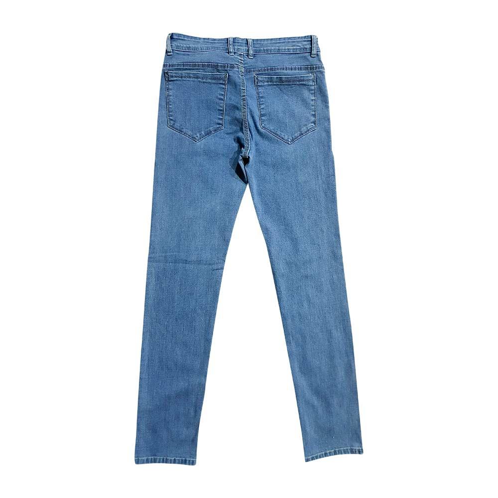 شلوار لی جیب کراس آبی روشن قد ۱۱۰