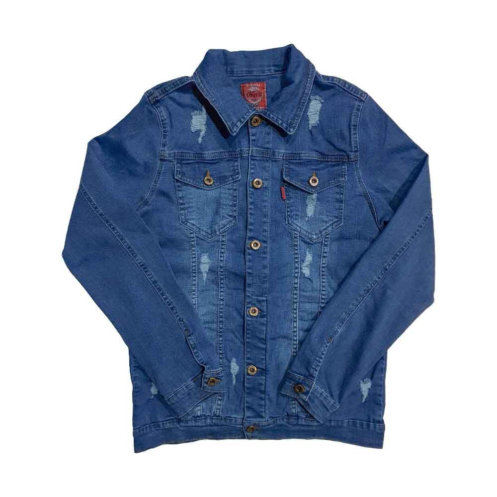 کت لی زاپ دار آبی