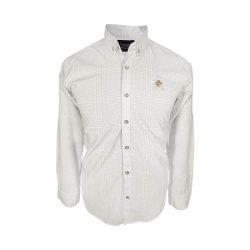 پیراهن مردانه ساتن خطی سفید