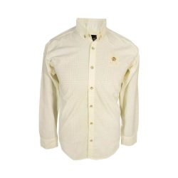 پیراهن مردانه ساتن خطی زرد
