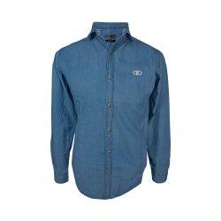 پیراهن لی آستین بلند آبی