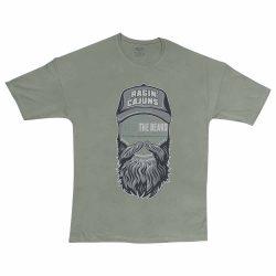تیشرت پنبه ای طرح beard man سایز بزرگ سبز