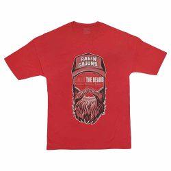 تیشرت پنبه ای طرح beard man سایز بزرگ قرمز