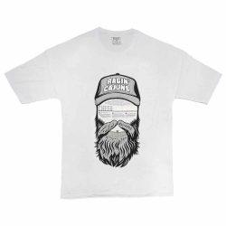 تیشرت پنبه ای طرح beard man سایز بزرگ سفید