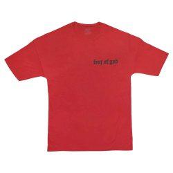 تیشرت قرمز سایز بزرگ طرح fear of god