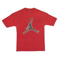 تیشرت قرمز سایز بزرگ با طرح جوردن