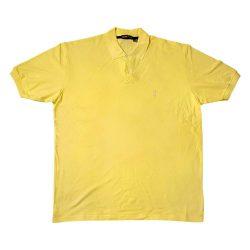 پولوشرت سایز بزرگ رنگ زرد