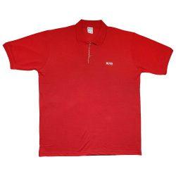 تیشرت یقه دار آستین کوتاه BOSS قرمز