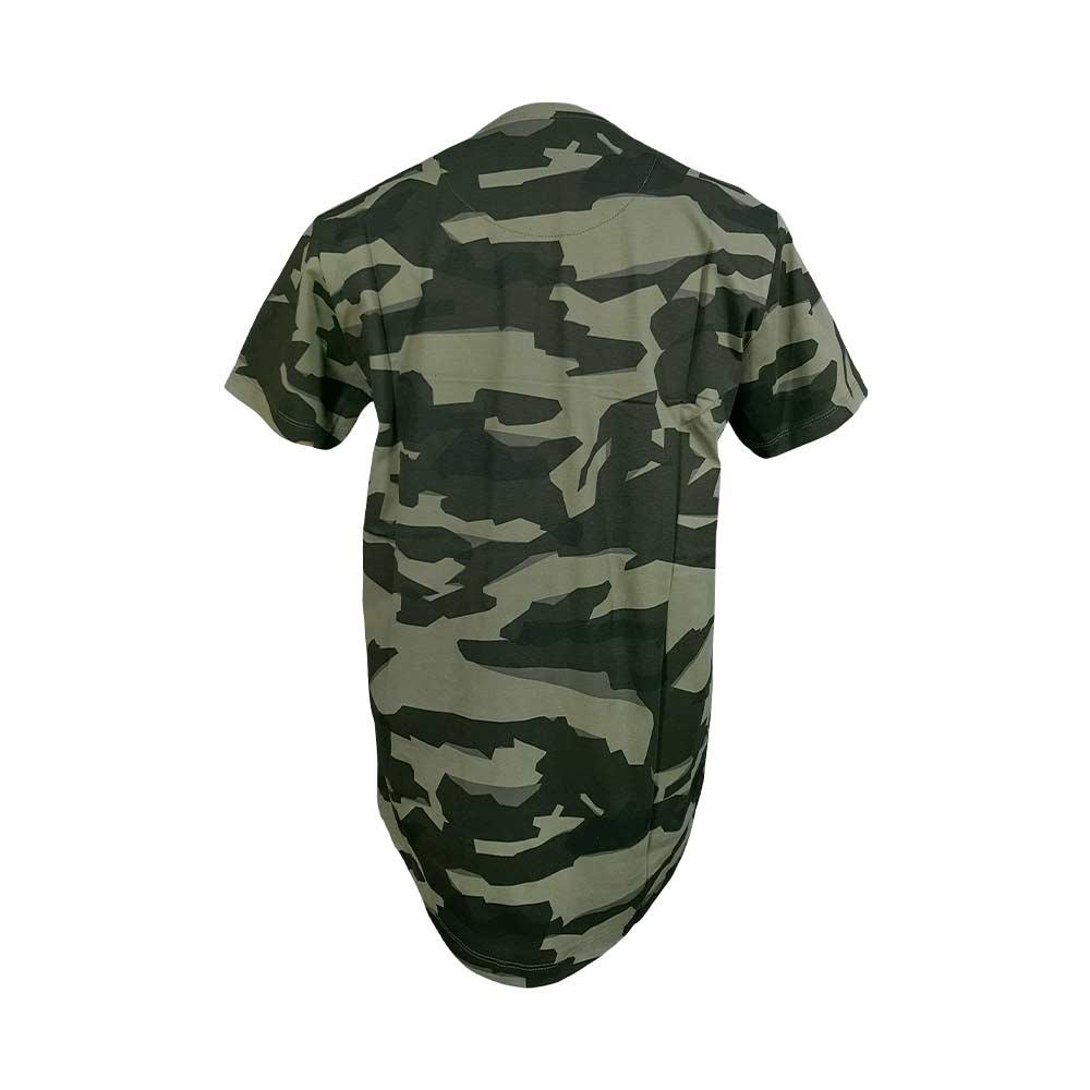 تیشرت ارتشی (چریکی) پنبه ای یقه گرد سبز لجنی