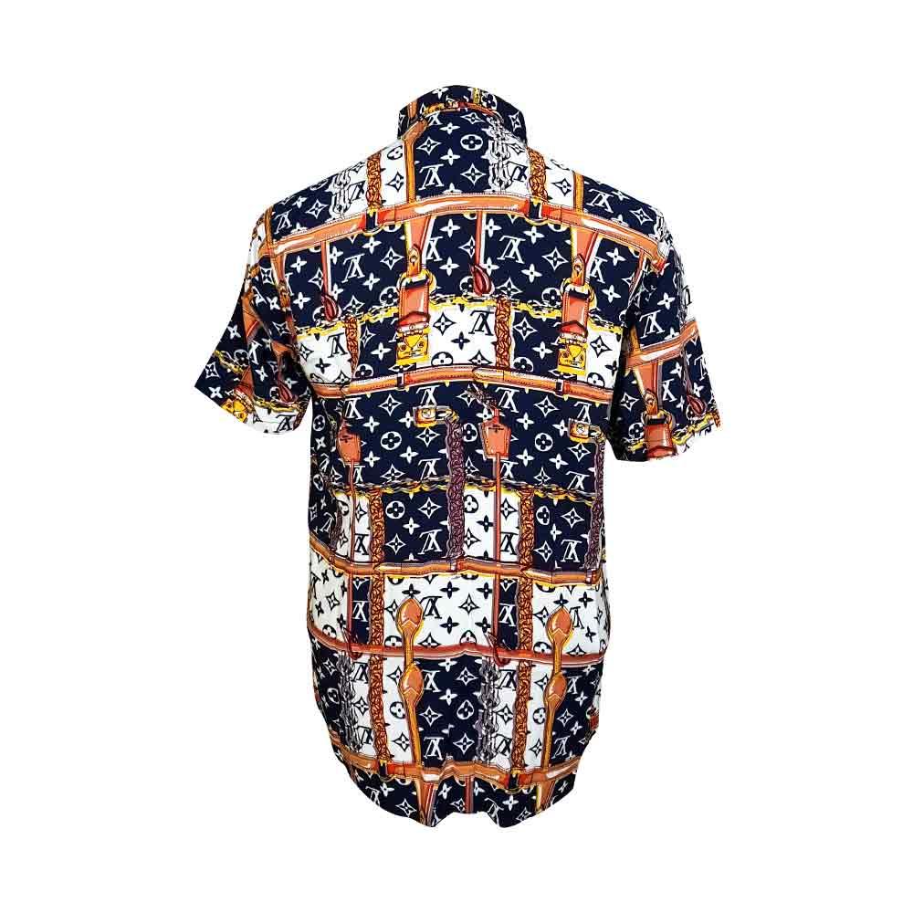پیراهن هاوایی طرح دار