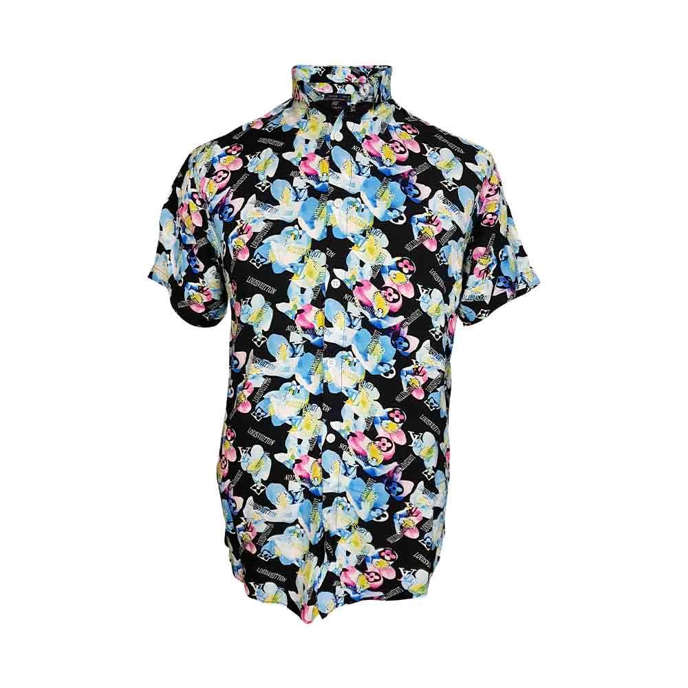 پیراهن گل گلی هاوایی با طرح گل