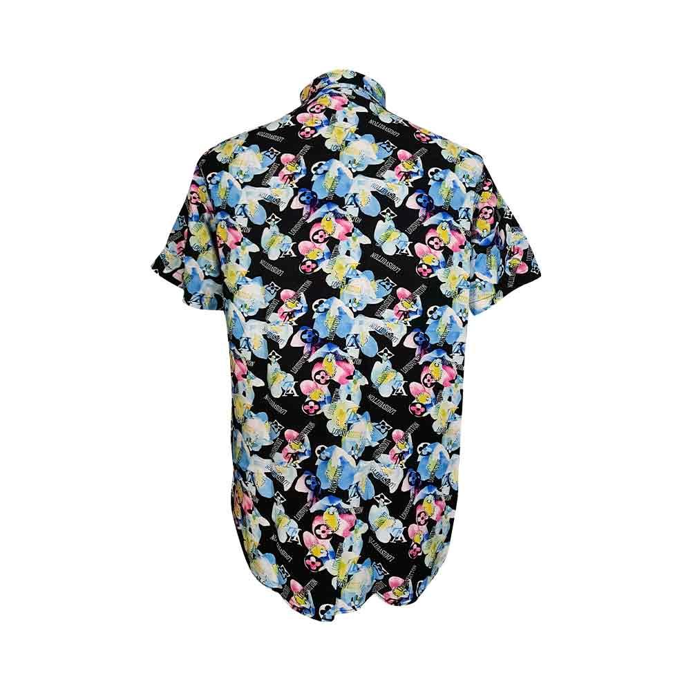 پیراهن هاوایی طرح دار گل گلی