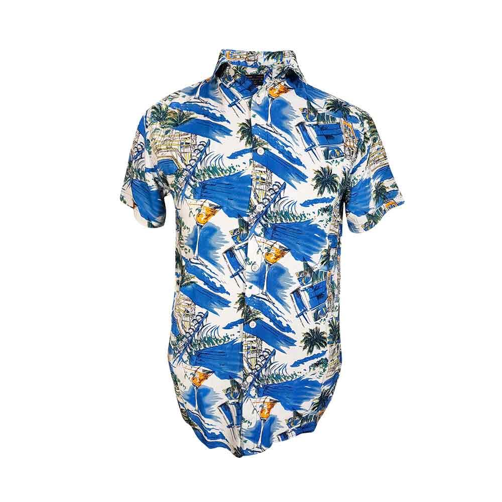 پیراهن هاوایی طرح ساحل