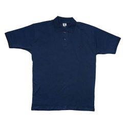 تیشرت یقه دار سایز بزرگ آبی سورمه ای مردانه طرح superdry