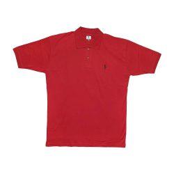تیشرت پنبه ای POLO یقه دار آستین کوتاه قرمز