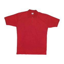 تیشرت یقه دار سایز بزرگ قرمز مردانه طرح superdry