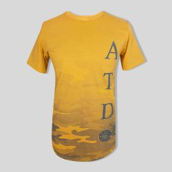 تیشرت مردانه طرح ATD زرد