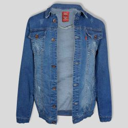 کت لی آبی مردانه زاپ دار