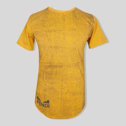 تیشرت زرد مدل FENDI آستین کوتاه