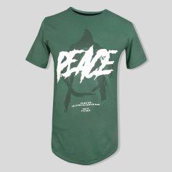 تیشرت سبز مردانه طرح PEACE