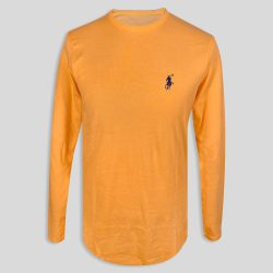 تیشرت آستین بلند پولو یقه گرد نارنجی