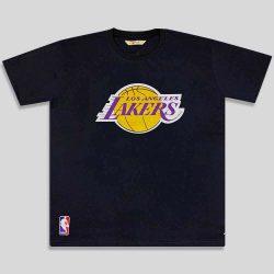 تیشرت سایز بزرگ مشکی طرح Lakers