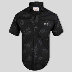 پشت پیراهن هاوایی مردانه مشکی