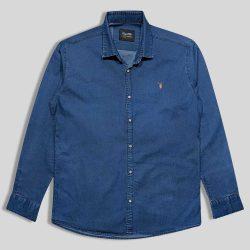 پیراهن لی سایز بزرگ ساده سورمه ای