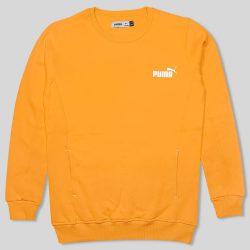 بلوز دورس نارنجی ساده جیب دار طرح پوما