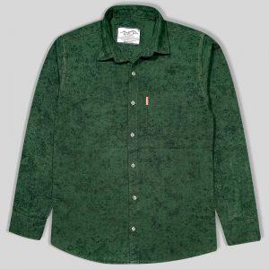 پیراهن پشمی پاییزه جیب دار سبز