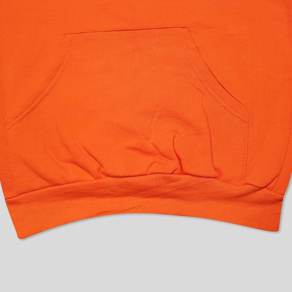 هودی نارنجی بلند چاپ دار پایین
