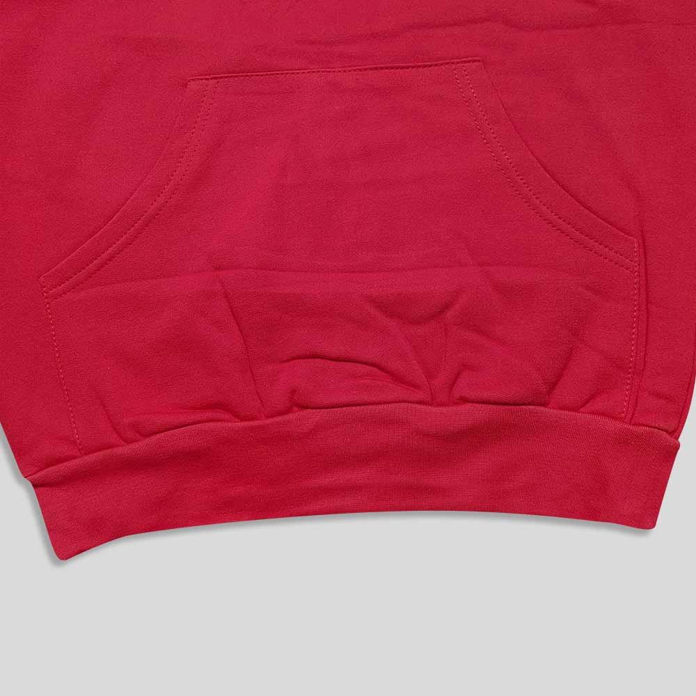 هودی قرمز بلند چاپ دار پایین